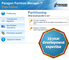 Paragon Partition Manager Free Edition (32-bit) screenshot